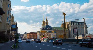 Church of the Nativity at Poshtova Square (Post Square), Podol district