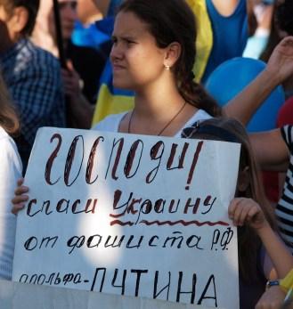 """God save Ukraine from Russian fascist Adolf Putin"""