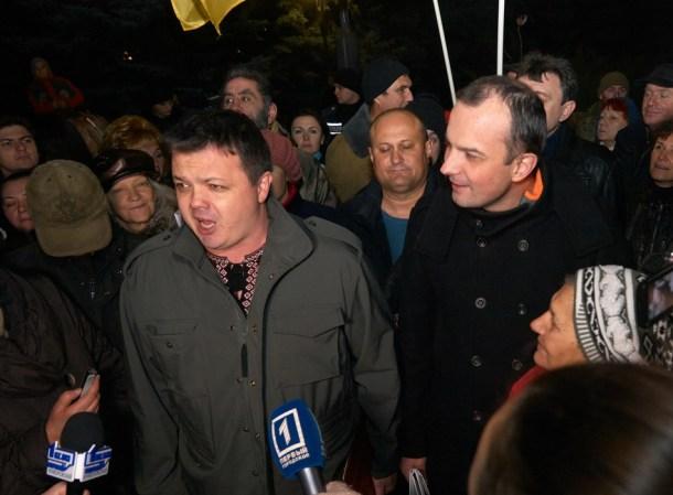 Семен Семенченко та Єгор Соболєв
