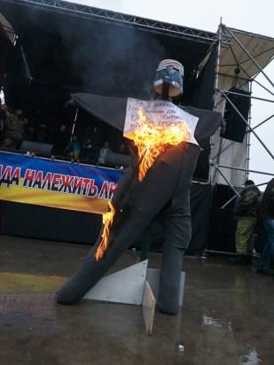 Burning the dummy