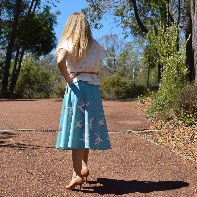 Spring-outfit-geese-skirt