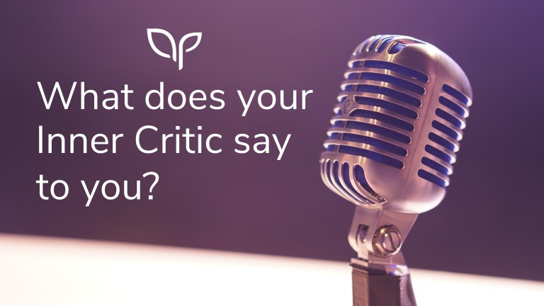 Title Image saying What does your inner critic say to you?