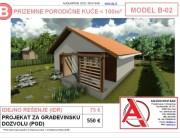 MODEL B-02, gotovi projekti vec od 50e, projekti, projektovanje, izrada projekata, house design, house ideas, house plans, interior design plans, house designs, house