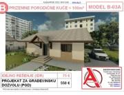 MODEL B-03A, gotovi projekti vec od 50e, projekti, projektovanje, izrada projekata, house design, house ideas, house plans, interior design plans, house designs, house