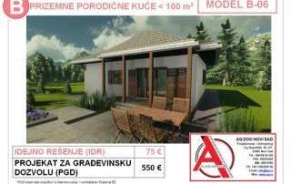 MODEL B-06, gotovi projekti vec od 50e, projekti, projektovanje, izrada projekata, house design, house ideas, house plans, interior design plans, house designs, house