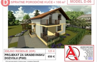 MODEL D-06, gotovi projekti vec od 50e, projekti, projektovanje, izrada projekata, house design, house ideas, house plans, interior design plans, house designs, house