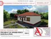 MODEL B-07, gotovi projekti vec od 50e, projekti, projektovanje, izrada projekata, house design, house ideas, house plans, interior design plans, house designs, house