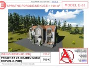 MODEL E-33, gotovi projekti vec od 50e, projekti, projektovanje, izrada projekata, house design, house ideas, house plans, interior design plans, house designs, house