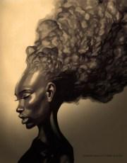 natural hair love art alireyisboss