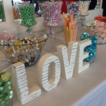 Apparently wedding candy bars are The Hot Shit right now. (The M&Ms were printed with the bride and groom's names.)