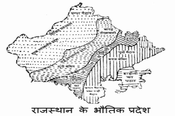 Rajasthaan ke Bhautik Pradesh