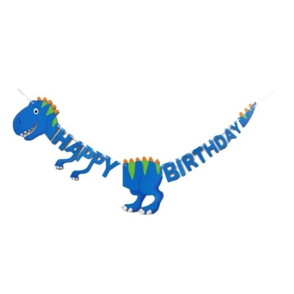 Blue dinosaur banner