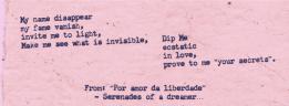 "English translated version of few couplets from Portuguese poem: ""Por Amor Da Liberadade"""
