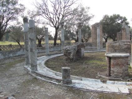 Columns outside the baths complex