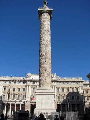 Column of Marcus Aurelius (not Trajan's). Completed by AD 193