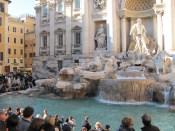 The Trevi Fountain - Built later, the Roman connection is that Marcus Agrippa was an important builder of Rome's water supply