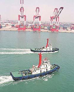 Arriving inQingdao