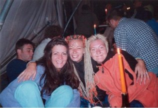 Glasto with michelle and linz