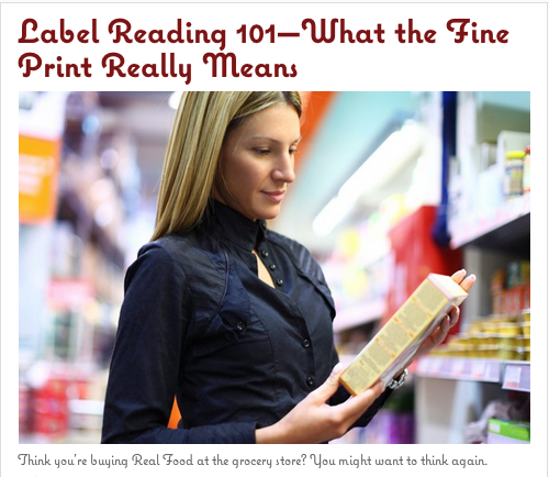 Label Reading 101