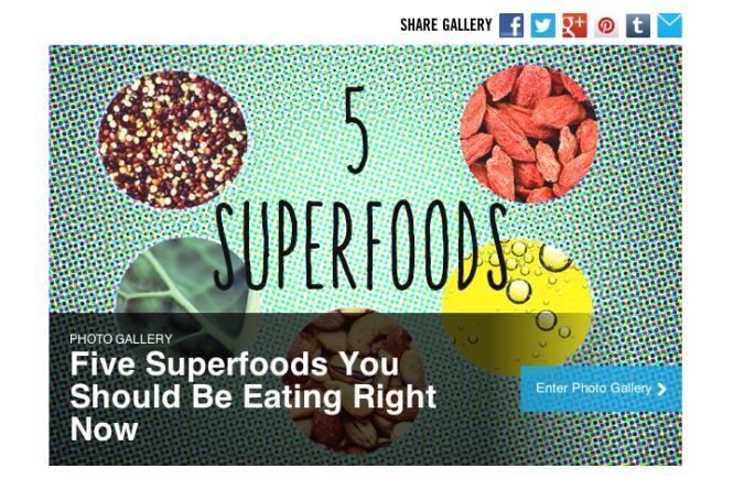 Five Daily Superfoods