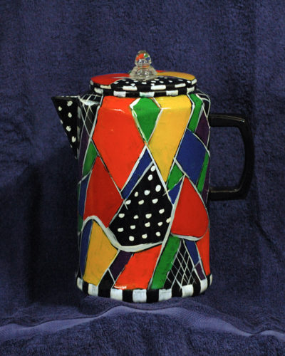 The One-of-a-kind 'Crazy Coffee Pot @Alison D. Gilbert