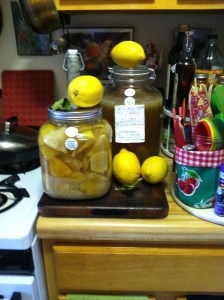 Lemon peel syrup