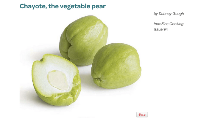 The Chayote or Vegetable Pear