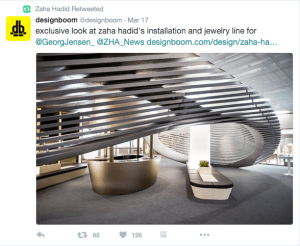 The Georg Jensen Installation of Zaha Hadid Jewelry