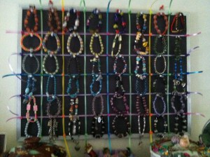 Knolling Forty eight of My Bracelet Collection