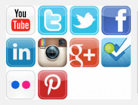 social media icons for business marketing page