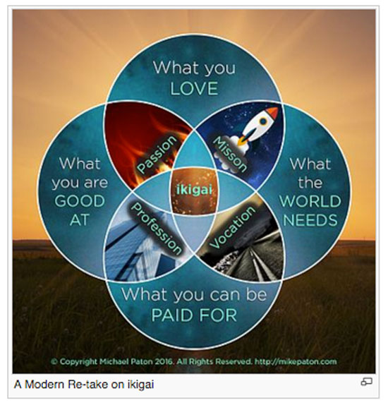 A Modern Retake on the Ikigai Diagram ©Mike Paton 2016invovling process