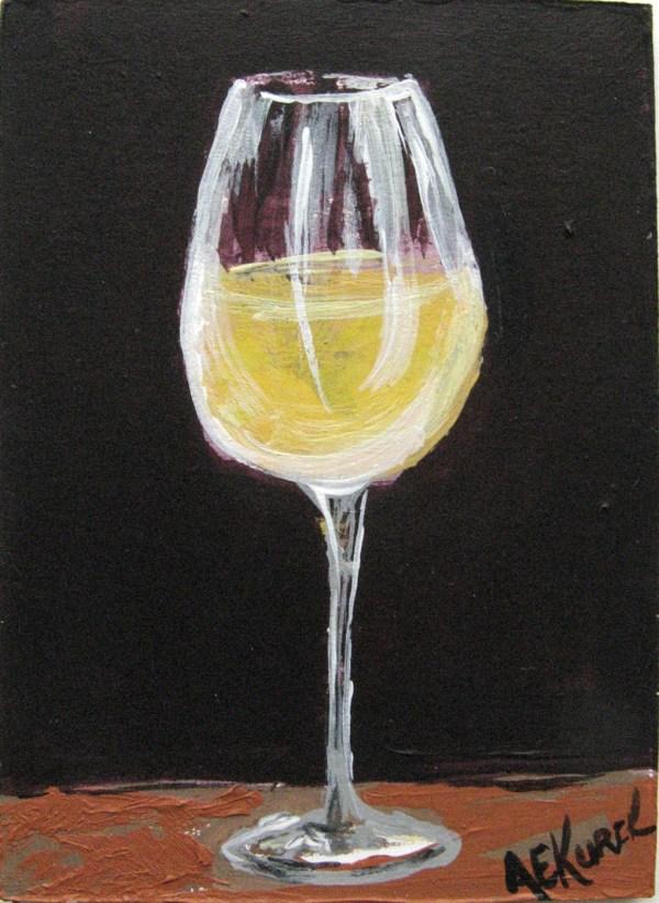 Wine Glass Painting Art