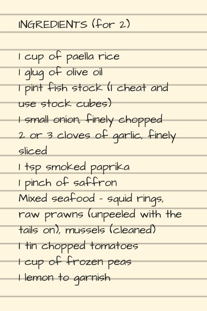 Paella recipe 1
