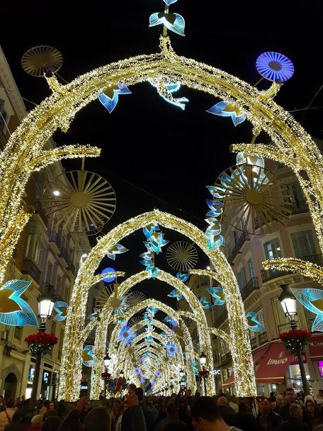 Malaga Christmas lights