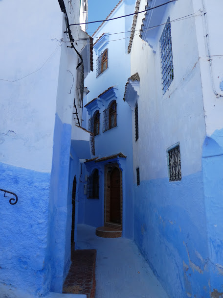 Blue alleyway in Chefchaouen Medina