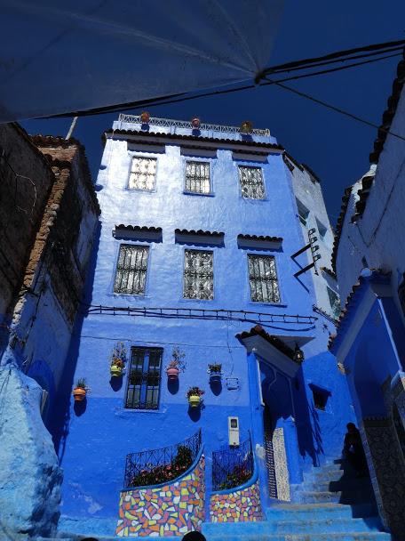 Blue house in Chefchaouen Medina