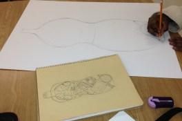 Identity vase drawing.