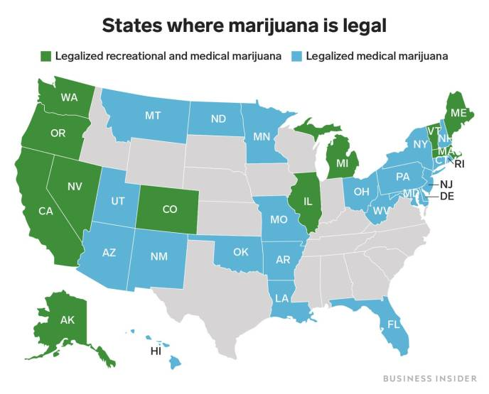 USA Legal States for Cannabis