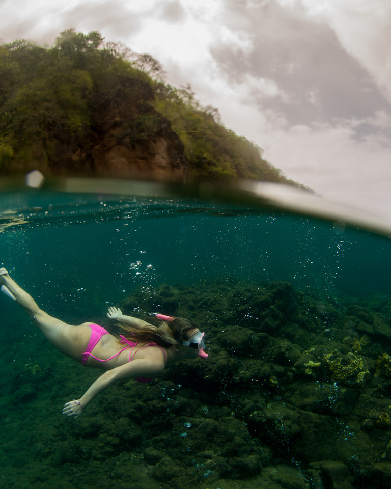 Snorkelling Champagne Reef, Dominica