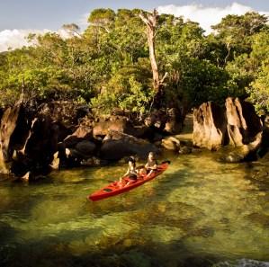 Canoeing on Masoala Peninsula.