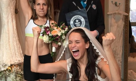 We both smashed the world record for fastest time to dress a bride. What did you do on Valentine's Day?