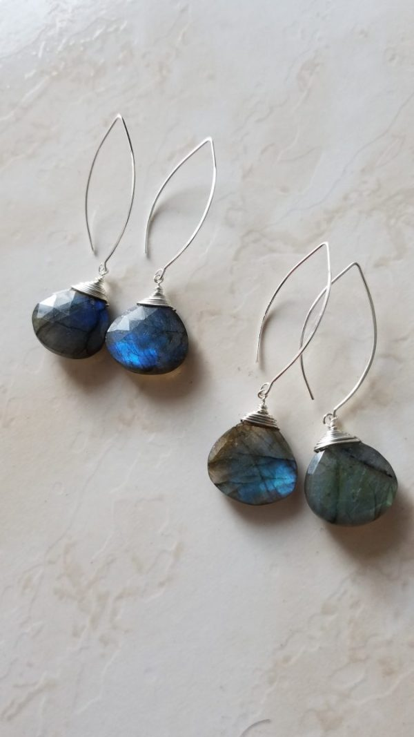 labradorite drop earrings
