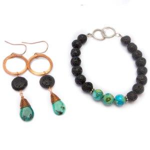 Lava Rock - Natural Essential Oil Diffuser Jewelry