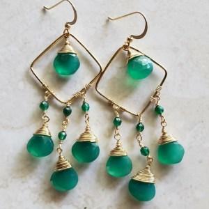 green onyx earrings