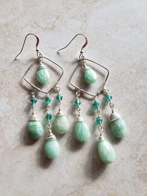 amazsonite earrings