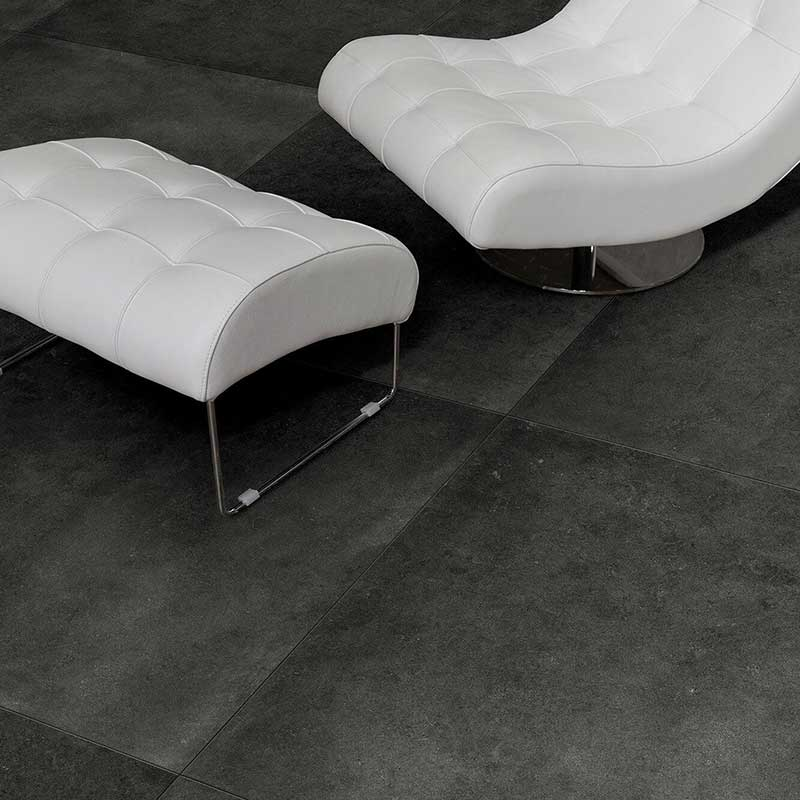 genoa charcoal porcelain tiles from