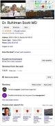 La info box dei risultati della ricerca di Google per Dr. Ruhlman, mostrano una foto, una mappa, dei rating, un indirizzo, recensioni, pusanti per fare una domanda, lasciare una recensione e aggiungere una foto, insieme ad altre persone su cui sono state fatte ricerche.