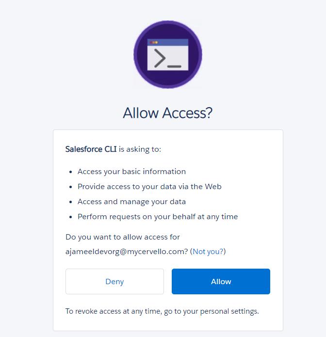 Salesforce Org Authorization