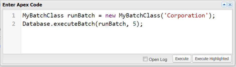 Executing Batch Apex With A Constructor