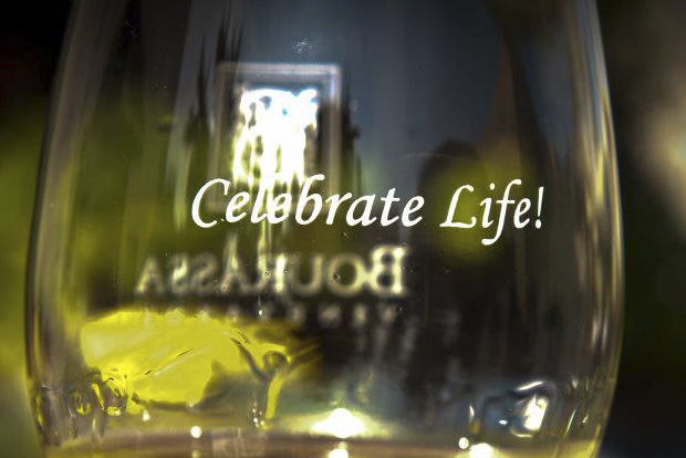 "Vic Bourassa's motto at the vineyard is to ""Celebrate Life""!"